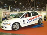 Goodridge fékcsővel szerelt rally autó
